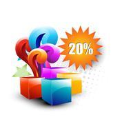 Vector giftbox Stock Illustration