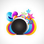 abstract shape background - stock illustration