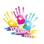 colorful hand - stock illustration