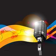 vector mic design art - stock illustration