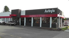 Arby's Drive Through Stock Footage