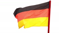 German flag waving with alpha chanel at the second half of the footage Stock Footage
