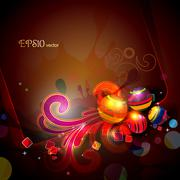 abstract colorful background - stock illustration