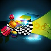 Stock Illustration of abstract shape background