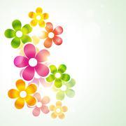 beautiful vector flower - stock illustration
