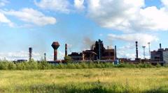 Blast-furnace is in Nizhny Tagil Iron and Steel Plant - NTMK Stock Footage