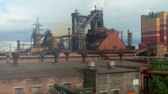 Blast furnace is at metallurgical plant of NTMK, Russia Stock Footage