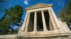 Temple of Clitumnus, Italy 02 Stock Footage