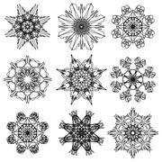 Stock Illustration of Round Ornamental Geometric Pattern