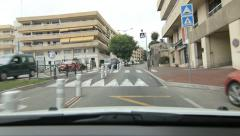 Driving into and through the town of Vence in the south of France. Stock Footage