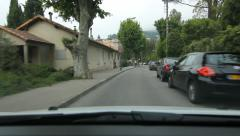Driving through the streets of Vence in the south of France. Stock Footage