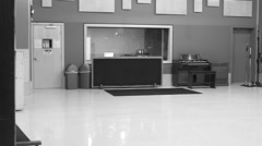 Stock Video Footage of Tracking Room of Commercial Recording Studio (Black & White)