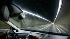 Gotthard Tunnel in Switzerland Stock Footage