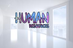 Composite image of human resources - stock photo