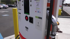 Electric car charging station Stock Footage