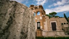Ancient Roman Temple 02 Stock Footage