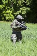 Jagdkommando Austrian special forces - stock photo