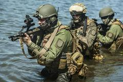 Special forces in the water Stock Photos