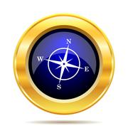 Compass icon. Internet button on white background.. - stock illustration