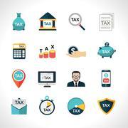 Tax Icons Set Piirros