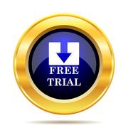 Stock Illustration of Free trial icon. Internet button on white background..