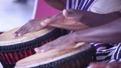 Stock Video Footage of Native Drummers