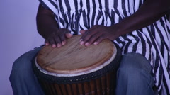 Drummer from Africa - stock footage