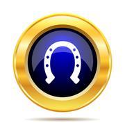 Horseshoe icon. Internet button on white background.. - stock illustration