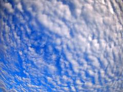 Dense stratus clouds against the blue sky Stock Photos