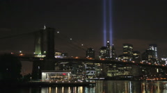 New York City reflects on September 11 Stock Footage