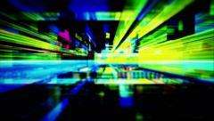A maze of flickering light streaks - Video Background 1300 HD, 4K - stock footage