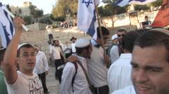 Israeli's Celebrate Jerusalem Day Stock Footage