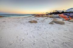 White Beach Tasmania Stock Photos