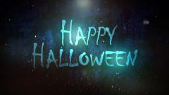Fiery Happy Halloween Wishes - stock footage