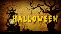 Happy Halloween Flickering Lamp Stock Footage