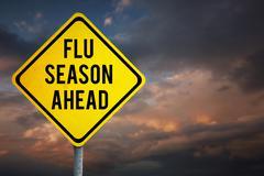 Composite image of flu season ahead Stock Photos