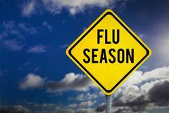 Composite image of flu season Stock Photos