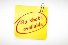 Stock Photo of Composite image of flu shots available