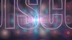 disco music blurred glowing motion particles animation background - stock footage