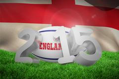 Stock Illustration of Composite image of england rugby 2015 message