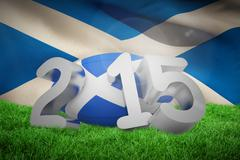 Stock Illustration of Composite image of scotland rugby 2015 message