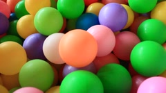 Plastic toy ball colorful Stock Footage