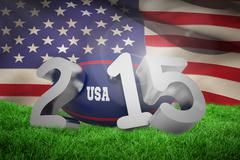 Stock Illustration of Composite image of usa rugby 2015 message