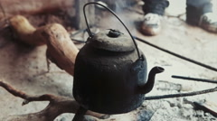 Water Pot of a native person Stock Footage