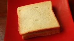 Sauteed pork sandwiches Stock Footage