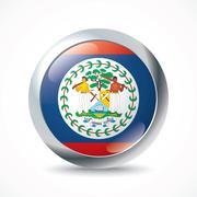 Belize flag button Stock Illustration