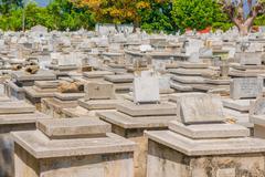 HAVANA, CUBA - SEPTEMBER 1, 2015:The Colon Cemetery Stock Photos