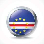 Cape Verde flag button Stock Illustration