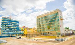 Havana. USA Embassy - stock photo