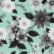 Elegant floral seamless background design Stock Illustration